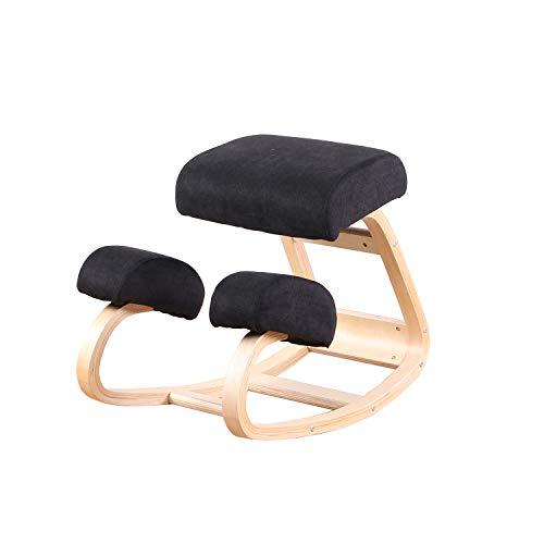 ArtDesign FR Ergonomischer Kniestuhl – Bessere Haltung Kniehocker – Toller Büro- oder Schreibtischstuhl – größerer Sitz, Kniekissen – robust und bequem (schwarz)