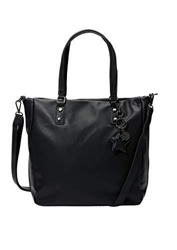 s.Oliver (Bags Damen 39.911.94.3875 Henkeltasche, Schwarz (Black), 12x30,5x30 cm