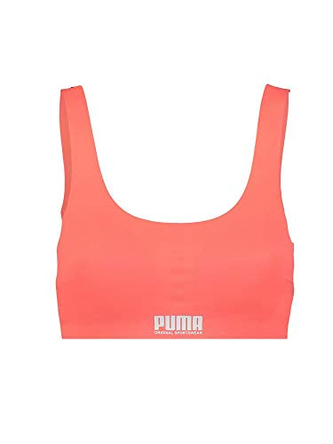 PUMA Women's Sporty Padded Top (1 Pack) Intimo, Rosa, M Donna