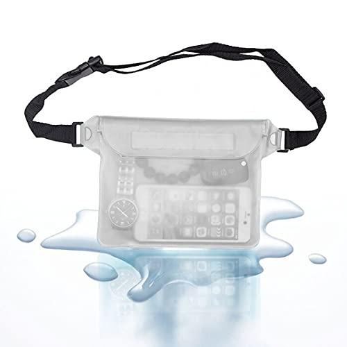 Shoplifemore Bolsa impermeable, bolsa subacuática de la cintura del teléfono móvil bolsas caso para la deriva buceo natación playa bolsa seca teléfono caso (transparente)