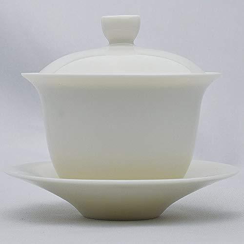 羞花蓋碗(白磁中国茶器)