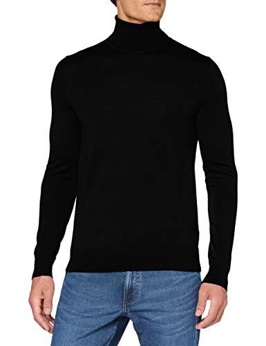 HUGO Mens San Antonio 2 Sweater, Black (1), L