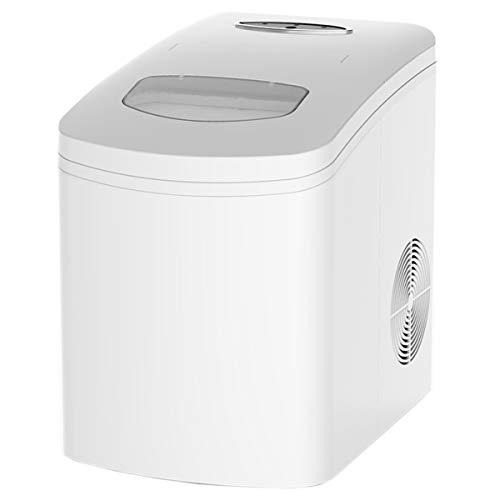 CDFC Eiswürfelmaschine/Eismaschine / 10KG Eiswürfel/Produktionszeit 7-9Minuten / Leise / 1 Kg Kapazität/LED-Anzeige/Manuelle Wassereinspritzung / 120W/ ABS/Weiß