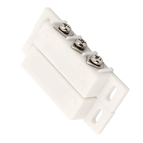 PRINDIY Interruptor de láminas magnético Normalmente Abierto Cerrado NC NO Puerta Ventana de Alarma Caja Fuerte Interruptor de Puerta magnético Blanco
