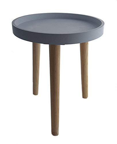 Decorative Wooden Table 36 x 30 cm - Small Side Table Coffee Table - grey