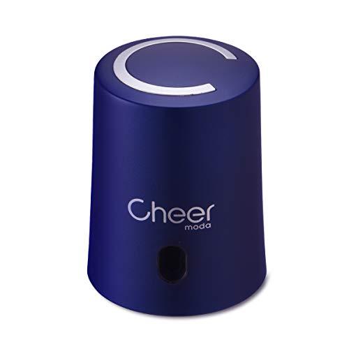 CHEER MODA Weinverschlüsse, Weinverschluss Weinsparvakuumpumpe und Weinflaschenverschluss mit Datumsmarkierung zum Entfernen von Luft und Vakuum - Weingeschenk für Weinliebhaber (Blau)