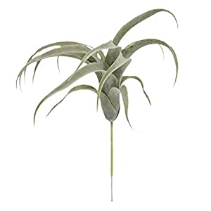Artificial and Dried Flower 33cm Air Plants Artificial Flocking Fake Bromeliads Air Plants Hanging Simulation Plants for Home Decoration 1pc Or Garden