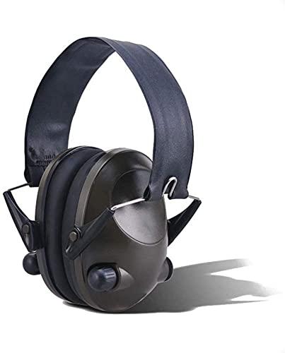 Auriculares tácticos Anti-Ruido Toma de Campo Military Smart Smart Earmuff Cómodo (Color : Green, Size : One Size)