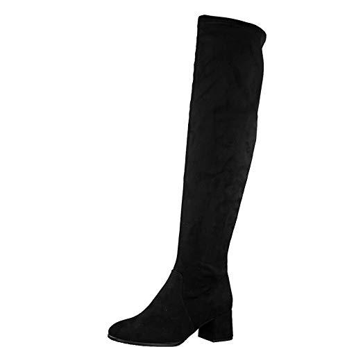 Tamaris Damen Stiefel, Frauen Overknee Stiefel, Lady Ladies Women's Women Woman Abend elegant Feier Overknee-Boots sexy feminin,Black,38 EU / 5 UK