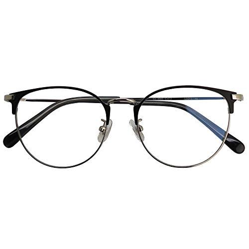 SHOWA ブルーライトカット 中近両用メガネ ブランシック クラシック cl-3065 (シルバー) (メンズセット) 全額返金保証 ブルーライト カット 老眼鏡 おしゃれ メンズ 男性 メガネ 眼鏡 パソコン PC メガネ リーディンググラス (瞳孔距