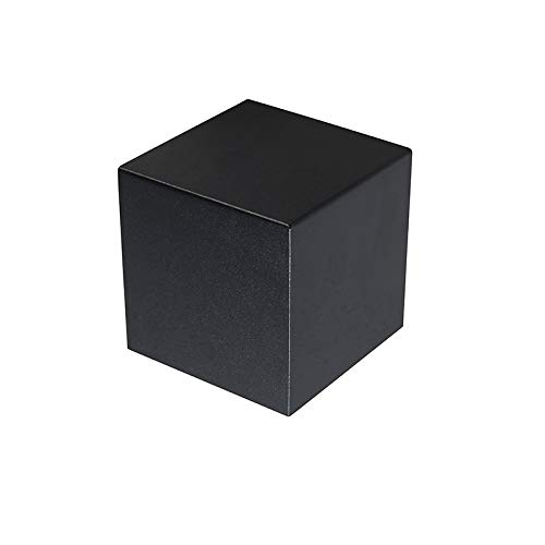 QAZQA Design Moderne wandlamp zwart - Cube Aluminium Kubus Geschikt voor LED Max. 1 x 40 Watt