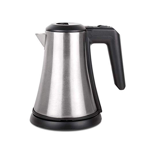 Great Price! ZOUJUN Stainless Steel Electric Water Kettle, Cordless Tea Kettle with Auto Shut-Off Boil-Dry Protection Double Wall Anti Hot Water Boiler No Plastic Touch Water Black (Color : Silver)