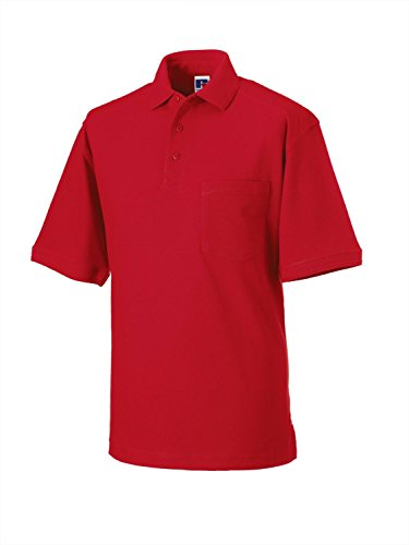 Russell Europe Heavy Duty Polo - Classic Red - S