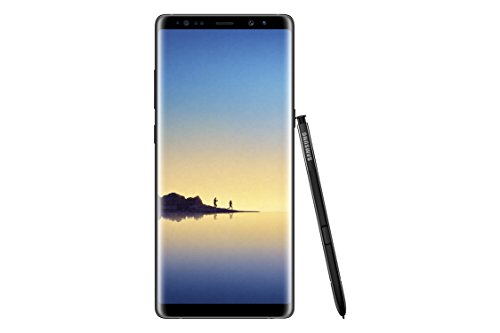 Samsung Galaxy Note 8 SM-N950F/DS Factory Unlocked Phone - 6.3' Screen - 64GB - International Version - No Warranty (Midnight Black)