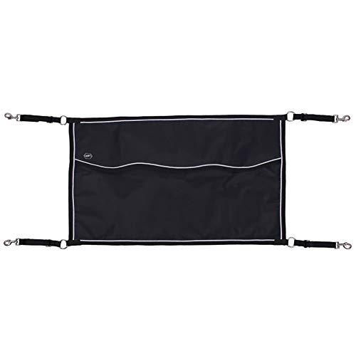 QHP Boxensperre Freiluft-Boxentür Verstellbare Gurtbänder 60 x 95 cm schwarz