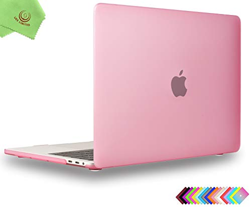 UESWILL Smooth Matte Hard Case for MacBook Pro 13 inch, 2/4 Thunderbolt 3 Ports (USB-C), 2016-2019 Release, Model A2159/A1989/A1706/A1708, Pink