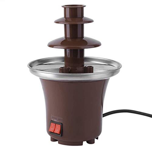 Grand Ensemble À Fondue Au Chocolat   Machine Électrique À 3 Niveaux D'une Capacité De 500 Ml Avec Base De Fonte Chaude   2 Réglages Réglables Et Fonction De Maintien Au Chaud