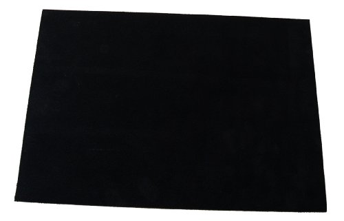 """Premium Quality Suede Sheets 8.5""""x12"""" with Super-Strong self-Adhesive Backing. Ideal for Making Peel-and-Stick (self-Stick, Stick-on) Soles for Dance Shoes, [Suede-DIY-Black]."""