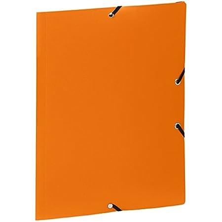 Viquel Chemise 3 rabats en polypropylène fermeture à élastique A4 Orange