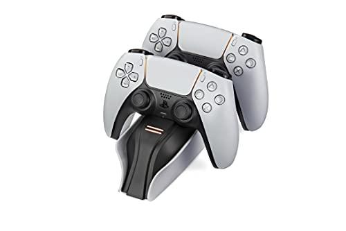 Snakebyte PS5 Twin Charge 5 - weiß - Playstation 5 Ladestation für DualSense Controller, Ladegerät für 2 Wireless-Controller inklusive Type-C Kabel, LED-Ladestatusanzeige,...