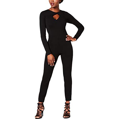 Guess Damen Long Sleeve Twist Neck Devina Jumpsuit, Jet Black a, X-Klein