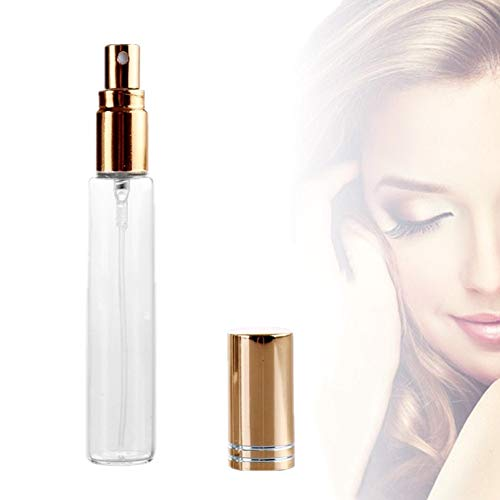 WESDOO Vaporisateur De Sac Rechargeable Atomiseur Parfum Atomiseur Vaporisateur Bouteilles Réutilisable Vaporisateur Parfum Voyage Bouteille Gold