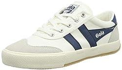 in budget affordable Women's Gora Badminton Shoes, (White / Baltic), 6 (39 EU)