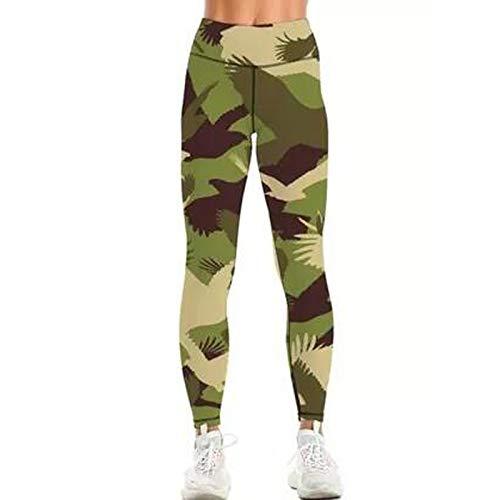 Pistazie - Pantalón de yoga para mujer, cintura alta