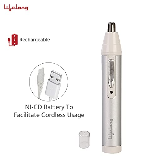 Lifelong LLPCM03 Rechargeable Nose and Ear Trimmer; 40 minutes Runtime and Washable (1 Year Warranty)