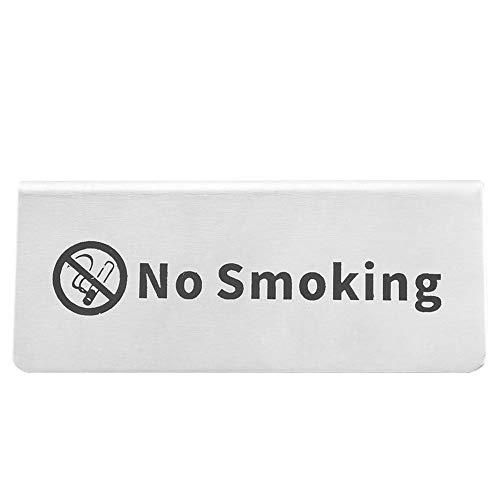 Toasses Signo de Mesa en inglés de Doble Cara de Acero Inoxidable Signo de Mesa para Restaurante Bar Pub vajilla (no Fumar)