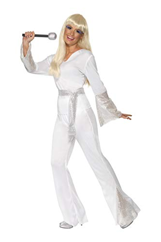 Costume disco lady blanc taille : s
