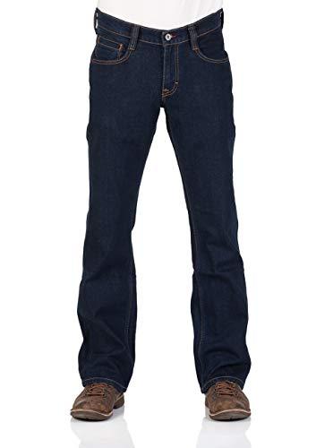 MUSTANG Herren Jeans Hose Oregon Bootcut Männer Jeanshose Denim Stretch Baumwolle Blau Schwarz W30 W31 W32 W33 W34 W36 W38 W40, Größe:W 38 L 34, Farbe:Dark Blue Denim (940)