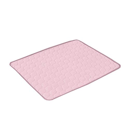 MKLEKYY Pet Dog Cats Cooling Mat,Self Cooling Mat for Dogs Cats Dog Cooling Mat Pet Cat Chilly Summer Cool Bed Pad Cushion Indoor (Pink, S)