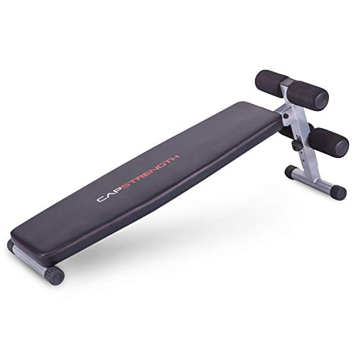 WF Athletic Supply Utility Bench Essentials Slant Board Sit Up Bench Crunch Board Ab Bench for Toning and Strength Training
