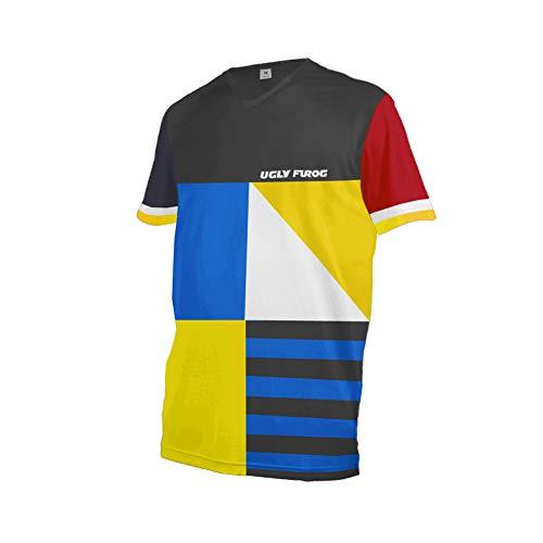 Uglyfrog Fahrrad Trikots & Shirts Bekleidung Herren - Radfahrer - Mountain-Bike - MTB - BMX - Biker - Rennrad - Outdoor - Downhill Jersey- Freeride - Special Designs Kurz/Langarm DEHerDownFT05