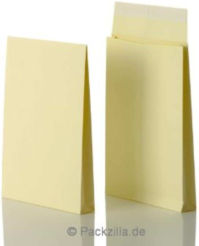 Bong 14330 Faltentasche mit Klotzboden C4 (229 x 324 x 38mm) Kraftpapier 170 g qm, Haftklebung mit Abdeckstreifen, VE  125 Stück, creme B0081E5RVO   Verkaufspreis