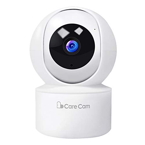 Baby Monitor 1080P Home Security Camera Wireless Indoor Surveillance Camera Smart 2.4G WiFi IP Camera with 2-Way Audio Night Vision Sound Detection (White) Monitors