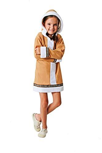Costumizate! Disfraz de Esquimal Talla 5-6 Especial para niños Fiestas de Disfraces o Carnaval