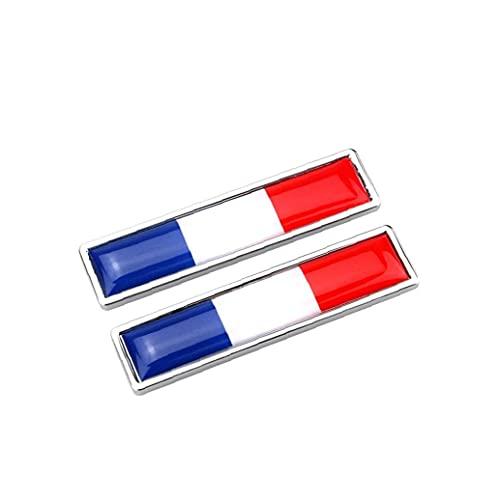 Sraeriot Metall Klistermärken National Flag Multi-användning Bumper Flag Chrome Decals Creative Flag Emblem Klistermärken (frankrike) 1pair