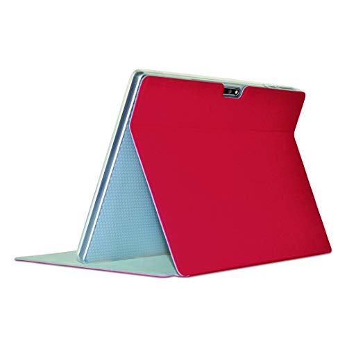 Custodia protettiva per tablet TECLAST M30 Pro, in pelle PU, con supporto pieghevole per tablet TECLAST M30 PRO da 10 pollici (rosso)