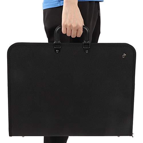 アートポートフォリオケースキャリーバッグ、PVCポータブルペインティングプレートバッグA3図面スケッチボ...