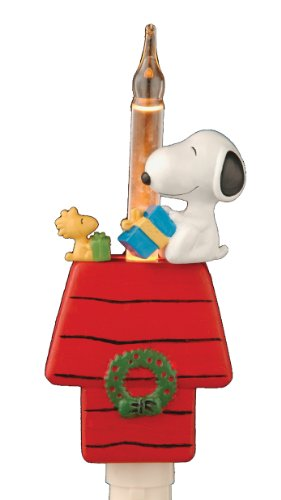 Peanuts Snoopy and Woodstock Sitting on Doghouse Holiday Night Light (166734)