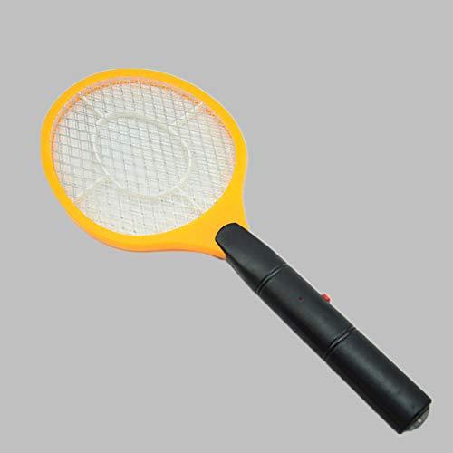 Elettrico Volare Mosquito Swatter,Batteria Racchetta Portatile,Estate Caldo Cordless Assassino di Zanzare Casa Bug Zapper Trappola Volante Giallo