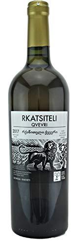 Georgischer Amphorenwein RKATSITELI Qvevri trocken - Oranger Wein, kachetische Weinbereitungsmethode, aus autochthone Rebsorte Rkatsiteli, Appellation Kindzmarauli, 0,75L, Georgien