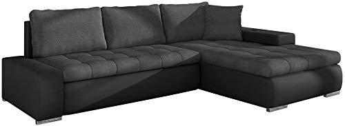 Sofá de esquina con caja de cama, sofá mini-elegante con función de sueño y función de cama, conversión gratuita,GreyA