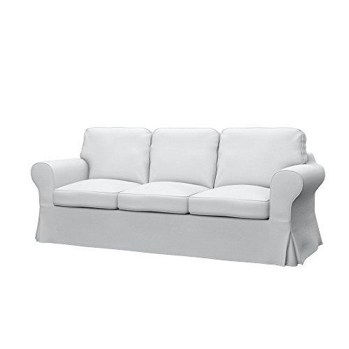Soferia Fodera Extra Ikea EKTORP PIXBO Divano Letto a 3 posti, Tessuto Elegance White