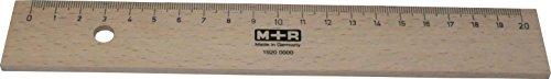 M+R Lineal Holz 20cm Buche Metalleinlage 1 Stück