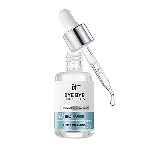 IT Cosmetics Bye Bye Dark Spots Niacinamide Serum - Visibly Reduces Dark Spots & Improves Skin Clarity In 8 Weeks - With 1% Ethyl Vitamin C - For All Skin Types - 1 fl oz