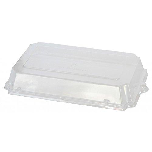 Duni 168849 doos, Sushi, Pla Tr Deksel, 247 mm x 151 mm x 27 mm, transparant (pak van 500)