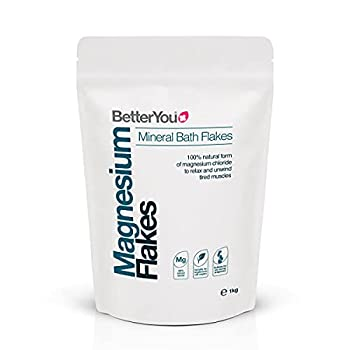 BetterYou Magnesium Flakes | Pure Clean and Natural Source Magnesium Chloride Bath Flakes | Magnesium Bath Salt | Detox Bath Salt | Cleansing Bath | 35 oz  Regular Magnesium Bath Flakes